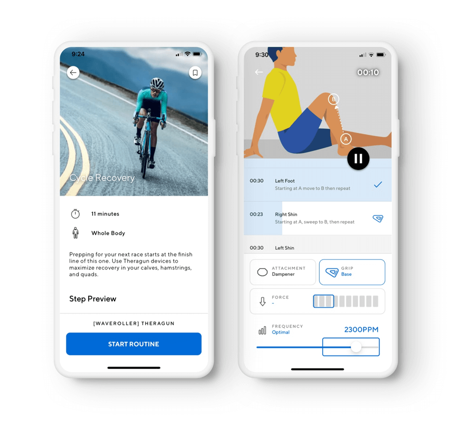 therabody app 2 screenshots