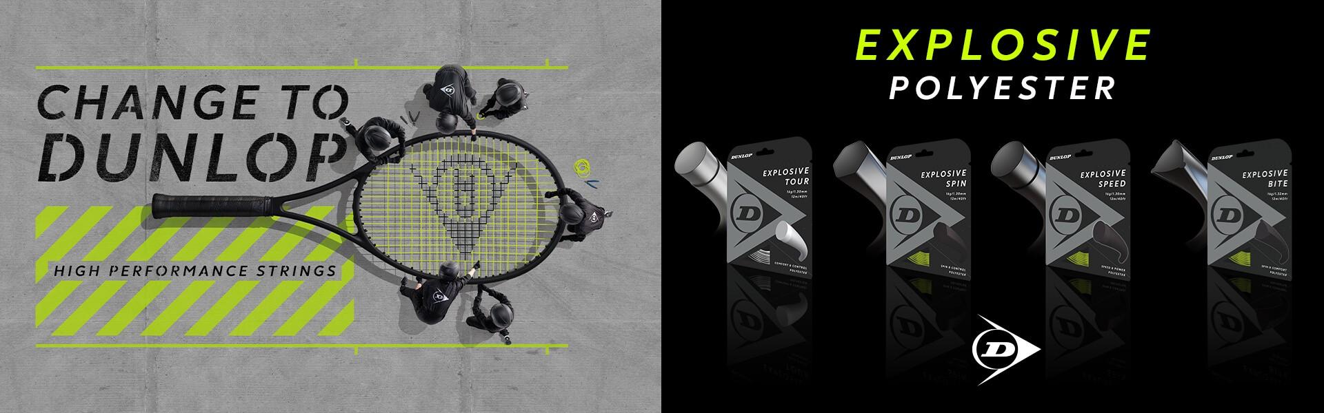 Change to Dunlop High Performance Tennis Strings