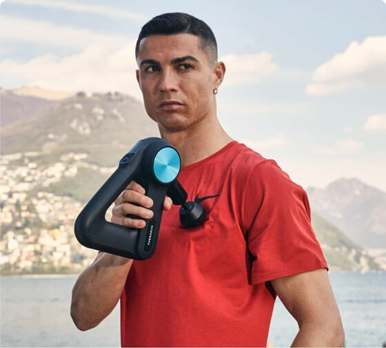 Therabody ambassadors Christiano Ronaldo
