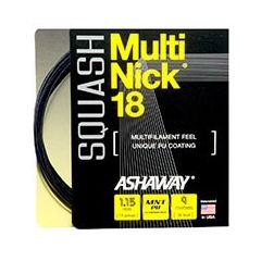 ASHAWAY MULTINICK 18 SQUASH BLACK 9m SET