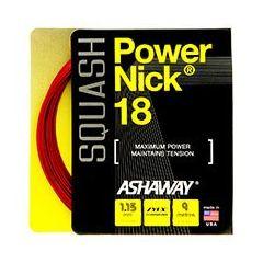 ASHAWAY POWERNICK 18 SQUASH RED 9m SET