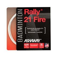 ASHAWAY RALLY 21 FIRE WHITE BADMINTON 10m SET