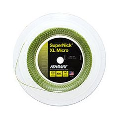 ASHAWAY SUPERNICK XL MICRO SQUASH YELLOW 110m REEL