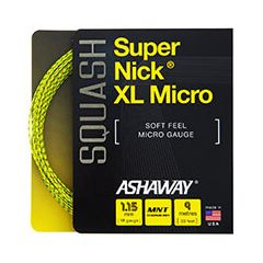 ASHAWAY SUPERNICK XL MICRO SQUASH YELLOW 9m SET