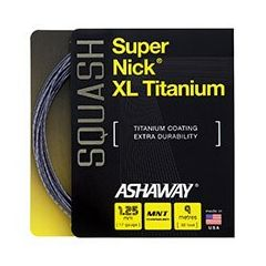 ASHAWAY SUPERNICK XL TITANIUM SQUASH 9m SET