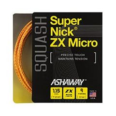 ASHAWAY SUPERNICK ZX MICRO SQUASH ORANGE 9m SET