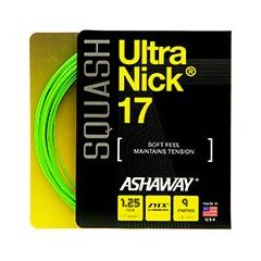 ASHAWAY ULTRANICK 17 SQUASH OPTIC GREEN 9m SET