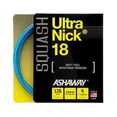 ASHAWAY ULTRANICK 18 SQUASH BLUE 9m SET