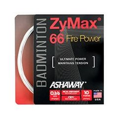 ASHAWAY ZYMAX 66 FIRE POWER WHITE BADMINTON 10m SET