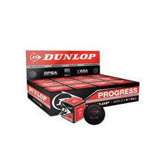 DUNLOP PROGRESS SQUASH BALL 1 DOZEN BOX
