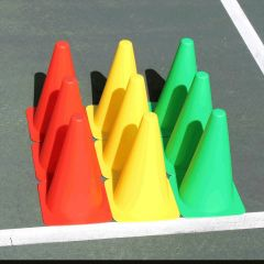 "Mini Stoplight Cones 9"" – Set of 9"