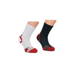 Wilson Junior Tennis Crew Sock (White/Black Mixed) 2 pack