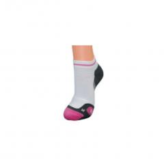 Wilson Ladies Tennis Ergostep Trainer Liner Sock (White/Pink/Grey) 1 Pack