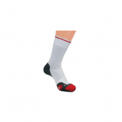 Wilson Mens Tennis Ergostep Crew Sock (White/Red/Grey) 1 Pack
