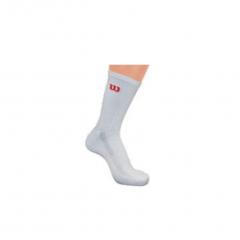 Wilson Mens Tennis Premium Crew Sock (White) 3 Pack