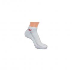 Wilson Mens Tennis Premium Trainer Liner Sock (White) 3 Pack
