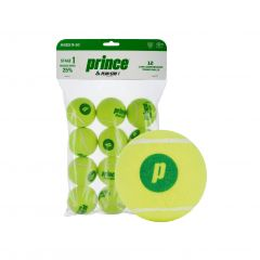 Prince Play & Stay Green Mini Balls Stage 1 (Dot) - 12 Pack