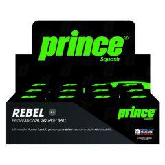 Prince Rebel Squash Balls Double Yellow 1 Dozen Box