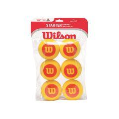 Wilson Starter Mini Red Foam Balls 6 Pack