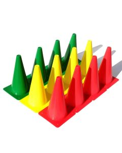 "Stoplight Cones 12"" - Set of 12"