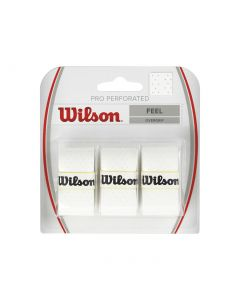 Wilson Pro Overgrip Perforated 3 Pack White