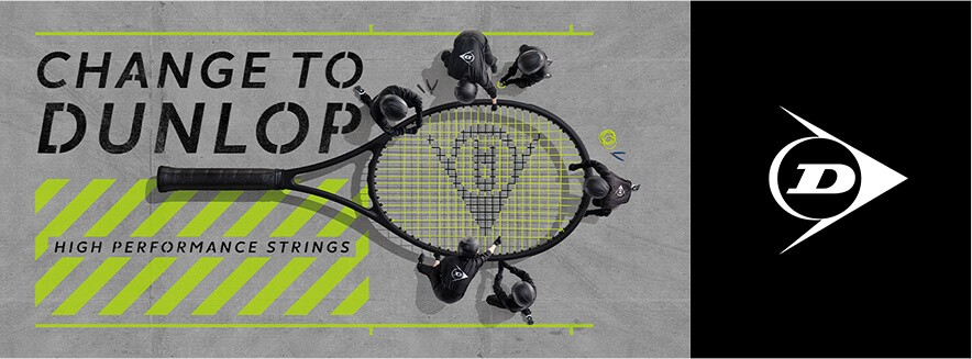 change to dunlop tennis strings